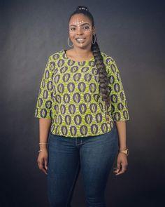 Wax print blouse Fresco made by n&a Fashion Wax