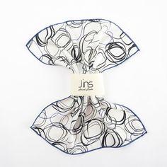 Random square pattern white silk handkerchief. white silk pocket square, pattern silk handkerchief, pocket square for men, mens handkerchief