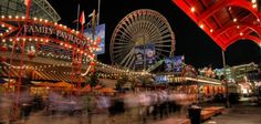 Navy Pier is an Amusement Park in Chicago. Plan your road trip to Navy Pier in IL with Roadtrippers. Chicago Travel, Chicago City, Chicago Illinois, Chicago Trip, Al Capone, Barack Obama, Places To Travel, Places To See, Travel Sights