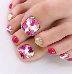 50 Elegant And Stylish Bright French Toe Nails Design elegant and stylish bright french toe nails design; elegant toe nails in bright colors; bright color design nails for toes; Simple Toe Nails, Pretty Toe Nails, Cute Toe Nails, Summer Toe Nails, Toenail Art Designs, Pedicure Designs, Pedicure Ideas, Best Toe Nail Color, Nail Colors