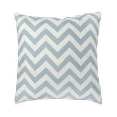 chevron throw pillow - blue