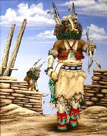 Kachina Painting Zuni Indian