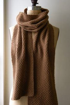 Double Seed Stitch Scarf | Purl Soho - Create