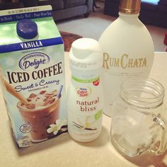 Cinnamon Vanilla Iced Coffee is the bomb. I love a shot of RumChata in my coffee on the weekends. Tastes like a cinnamon roll.