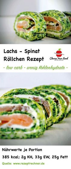 Lachs Spinat Rolle - Choose Your Level™ Low Carb Lachs Spinat Rolle – lachs spinat rolle low carb rezept mit wenig kohlenhydrate – low Low Carb Recipes, Diet Recipes, Quick Recipes, Crab Pasta Salad, Spinach Rolls, Easter Dinner Recipes, Low Carb Lunch, Mindful Eating, Gnocchi