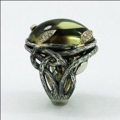 Enchanted Forest Ring by metalandstoneelite on Etsy, $1495.00