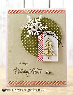 Fabulous creation by Joy Taylor using Simon Says Stamp Exclusives for this creation. Diy Holiday Cards, Holiday Wishes, Xmas Cards, Scrapbook Christmas Cards, Stamped Christmas Cards, Handmade Christmas Crafts, Card Tags, Gift Tags, Paper Cards