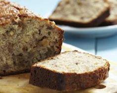 Banana bread (cake à la banane, pépites de chocolat et noix de pécan) sans oeufs ni matières grasses