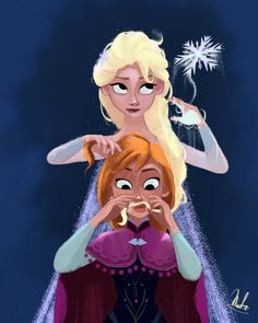 Elsa and her little sister Anna beeing dorks all the time Disney Fan Art, Disney Love, Dreamworks Studios, Disney And Dreamworks, Frozen 2, Disney Frozen Elsa, Frozen Drawings, Mermaid Artwork, Frozen Pictures