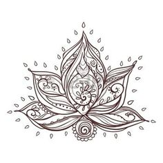 lotus sign vector: Ornamental Boho Style lotus Flower. Geometric element hand drawn. Perfect cards for any other kind of design, birthday and other holiday, medallion, yoga, india, arabic, om