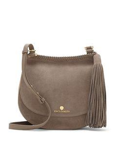f65bed373b5 Leather saddle bag with boho-chic tassel detailAdjustable crossbody strap