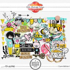 Butterfly Basics - Love Edition {elements} by Little Butterfly Wings. #digiscrap #CTlayout