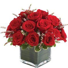 Red Rose Flower Arrangements | The Red Rose Tank - Flower Arrangement - Pure Floral Design