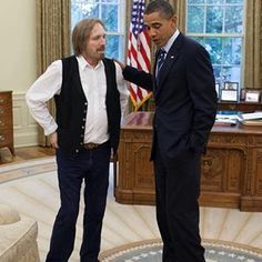 "CultureDUOS: Tom Petty & President Obama (2010) ""Remembering that day Tom Petty stopped by the Oval Office in 2010."" - Via Pete Souza IG: """
