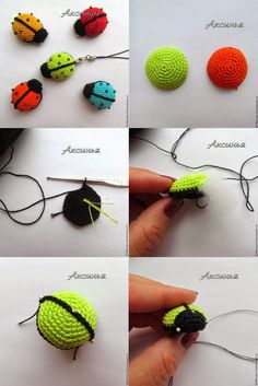 Artesanato com amor…by Lu Guimarães: Joaninha em Crochê – Knitting and crocheting Crochet Diy, Crochet Amigurumi, Crochet Gifts, Amigurumi Patterns, Crochet Motif, Crochet Dolls, Crochet Flowers, Knitting Patterns, Crochet Patterns