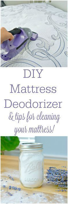 How To Clean Your Mattress & DIY Mattress Deodorizer. Easy tips for cleaning bed mattresses and freshening them up with a homemade mattress deodorizing sprinkle