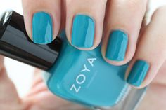 Zoya Island Fun Summer 2015 Swatch Talia Blue Cream