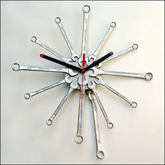 #Recycled wrenches to clock. More recycling info and resources: http://www.smarthealthtalk.com/america-recycles-day-broadcast-2012.html