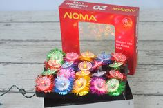 NOMA Tinsel Starburst Lites Vintage Christmas Lights New In Box Working
