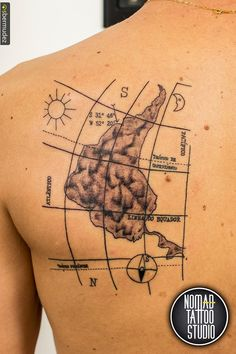Tattoos For Guys, Cool Tattoos, Tatoos, Tattoo Studio, Compass Tattoo, Piercings, America, Tattoo Ideas, South America Map