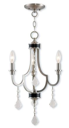 """View the Livex Lighting 40883 Glendale 3 Light 14"""" Wide Candle Style Chandelier…"""