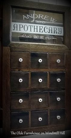 Apothecary Style Medicine Cabinet Door Using Salvaged Materials