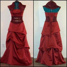 Grim sweetness: Steampunk Little  Red Riding Hood made from upcycled prom dress...wow!