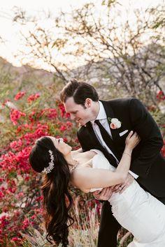 #sunset #spring #desert #garden #bougainvillea #flowers #Arizona #bride #groom #justmarried #ideas #inspired #elegant #glam #MalloryandRJ #ALWE #SanctuaryonCamelbackMountainResort #andrealeslieweddings // Planning & Coordinating - Andrea Leslie Weddings & Events // Photography - Jane in the Woods, AZ // Venue - Sanctuary on Camelback Mountain Resort, AZ //