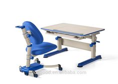 Yoogood Success Made Steel And PVC For Kids Adjustable Study Desk And Chair