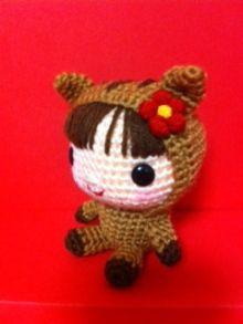 niña disfrazada amigurumi pagina japonesa