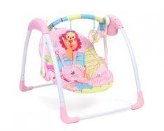 Leaganul are 5 viteze de leganare, fiecare viteza de leganare poate fi reglata la 15, 30 sau 45 de minute. Dotat cu 7 melodii de leagan si 3 sunete din natura, la care se poate regla volumul. Melodiile si treptele de leganare se activeaza direct de la butoane. Bouncer Swing, Baby Bouncer, Travel Cot, Baby Prams, Baby Swings, Kids Store, Toys, Children, Outdoor Baby Swing