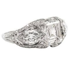like the side marque impressive Art Deco Diamond Platinum Ring