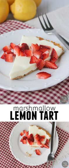 Marshmallow Lemon Tart Recipe on tasteandtellblog.com