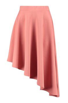 Mia Asymetric Full Scuba Midi Skirt