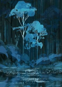 """zandraart: """"downpour """" It's raining where I am, too. It doesn't look this pretty, though."""