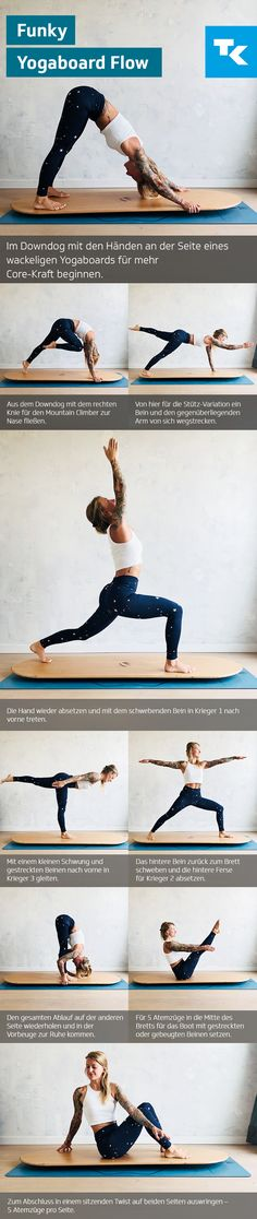 Zu müde, keine Zeit, langweilig – die Menge an Ausreden, nicht Yoga zu üben, ist manchmal groß. Für die gängigsten haben wir hier allerdings ganz praktische Lösungen und Ihr werdet sehen: sich mit den inneren Ausflüchten auseinanderzusetzen lohnt sich, um in die Eigenmotivation gehen zu können. Probiert's mal aus – z. B. mit dem Funky Yogaboard Flow. Diese Übung eignet sich auch für Anfänger. #dietechniker #yoga #asana #yogaboard #fitness Yoga For Balance, Yoga At Home, Yoga Flow, Motivation, Asana, How To Do Yoga, Workout, Sports, Training