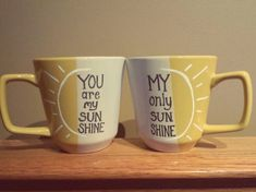 cute couples mug! Hey, I found this really awesome Etsy listing at https://www.etsy.com/listing/183493241/you-are-my-sunshine-coffee-mugs-set-of-2