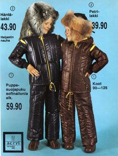 The fur hats were my most hated items of clothing, and one had to wear them no matter what. Funny Fashion, 70s Fashion, Vintage Humor, Vintage Ads, Childhood Toys, Childhood Memories, Worst Album Covers, Bad Album, Old Commercials