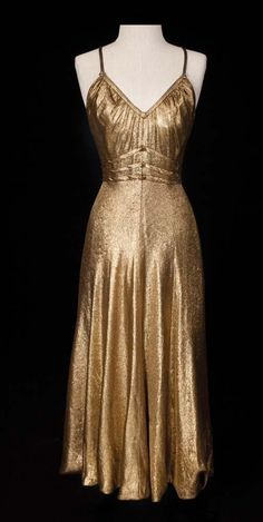 "Ginger Rogers ""Dinah Barkley"" gold lamé dress from Barkleys of Broadway"