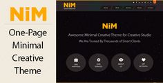 NiM - One Page Creative Theme by bigpsfan NiM is a minimal, clean & modern creative One-Page PSD Template. It¡¯s Ideal for any creative studio or for portfolio . The psd fil