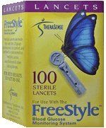 FreeStyle Lancets, Sterile, 28 Gauge 100 lancets by Freestyle. $11.45. Lancets, Sterile, 28 Gauge