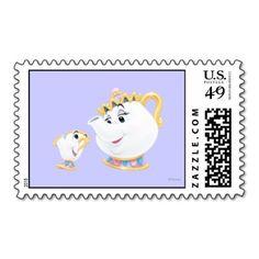 Zazzle Disney Postage Stamp - Beauty & The Beast - Mrs. Potts & Chip