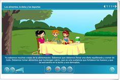 """""""Los alimentos, la dieta y los deportes"""" (Aplicación interactiva de Ciencias Naturales de Primaria) Science Area, April 7, Interactive Activities, Teaching Resources"""