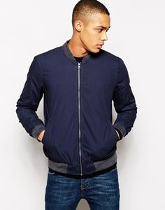 New Look Bomber Jacket With Contrast