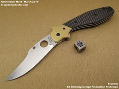 Spyderco 2014 Production Prototype – Ed Schempp Frontierr