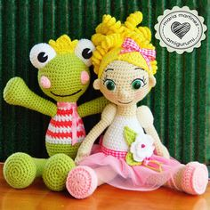 Maria Martinez Amigurumi (Muñecos de Crochet) | Frog, free pattern (english) Crochet Toys Patterns, Amigurumi Patterns, Stuffed Toys Patterns, Amigurumi Doll, Crochet Frog, Cute Crochet, Crochet Crafts, Knitted Dolls, Crochet Dolls