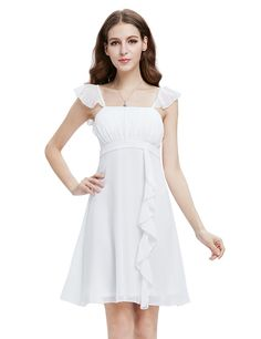 Ever Pretty Ruffles Empire Waist Padded Summer Bridesmaids Dress 03337 >>> Find out more about the great product at the image link. (This is an affiliate link) #WeddingPartyDress