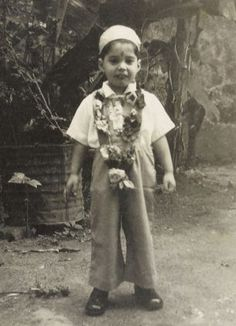 Freddie Mercury as a young child in th Fifties