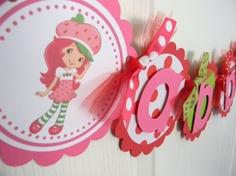 Strawberry Shortcake Birthday Party Name by sweetheartpartyshop, $22.00