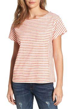 Main Image - Caslon® Stripe Tie Back Tee (Regular & Petite)